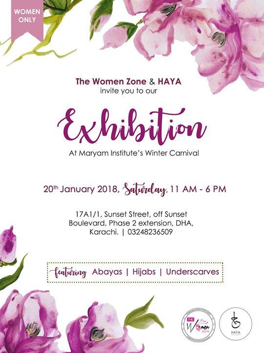 cfd9d9a833 Abayas & Hijabs Exhibition at Maryam Institute, Karachi