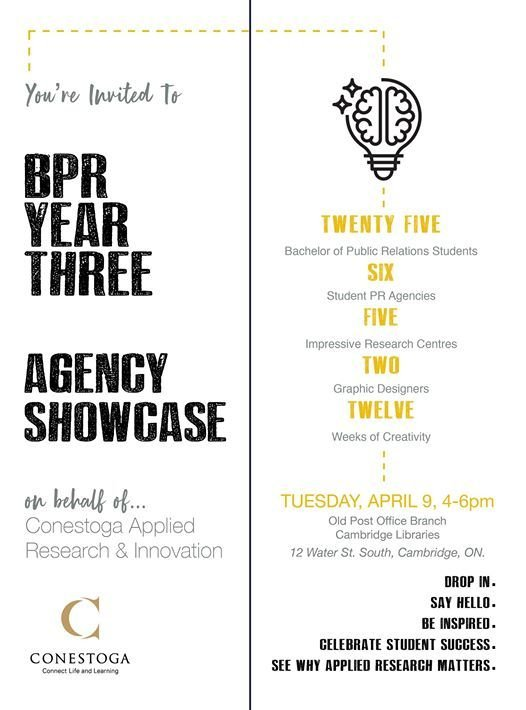 Bachelor of Public Relations Agency Showcase at Conestoga