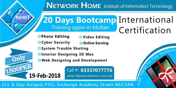 Boot Camp Training at Network Home Institute of Information