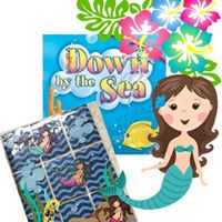 Down by the Sea Pocket Letter Page with Kimberly