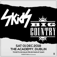 The Skids and Big Country at the Academy Dublin
