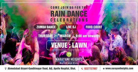 Holi Rain Dance Celebration