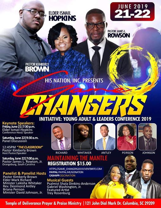 Game Changers Initiative 2019 at Temple Of Deliverance