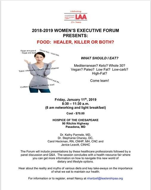 Leadership Anne Arundel Executive Womens Forum Session  2