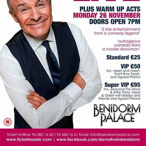 Celebrity big brother events in benidorm today and upcoming bobby davro m4hsunfo