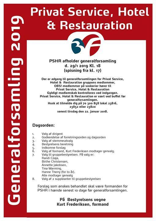 Generalforsamling PSHR