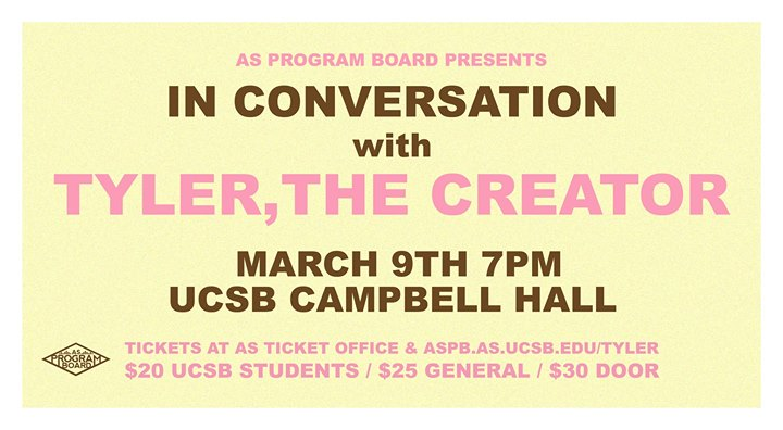 SOLD OUT In Conversation with Tyler The Creator