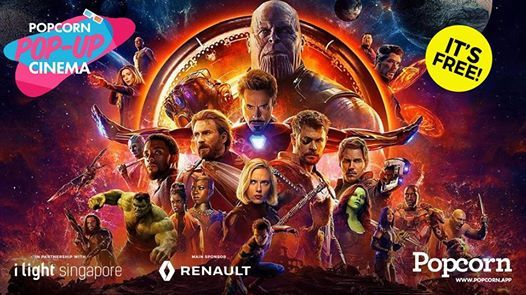 Popcorn Pop-Up Cinema x i Light 2019  Avengers Infinity War
