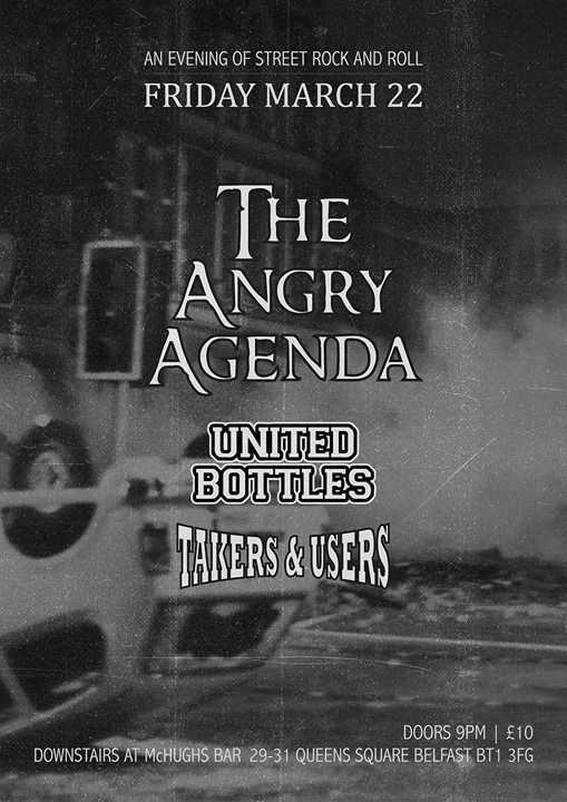 THE ANGRY AGENDA  TAKERS & USERS UNITED BOTTLES