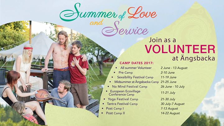 Ängsbackas Summer of Love & Service - Festival volunteering