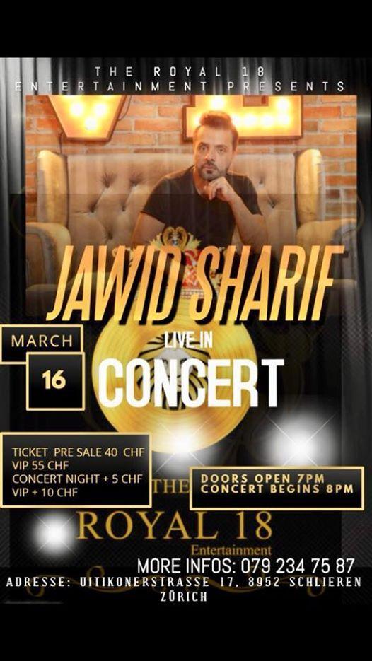 Nowruz concert Jawid Sharif at Restaurant Salmen, Zurich