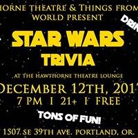 Star Wars trivia at Hawthorne Theatre Lounge