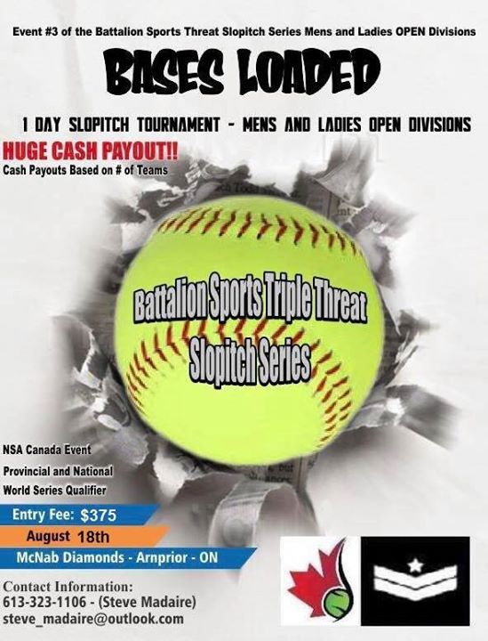 Bases Loaded - NSA Canada - Slopitch Tournament