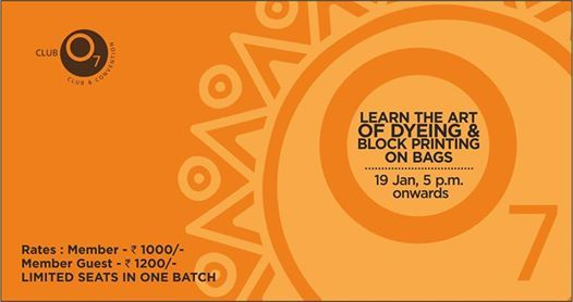 Workshop on Dyeing and Block Printing on bags