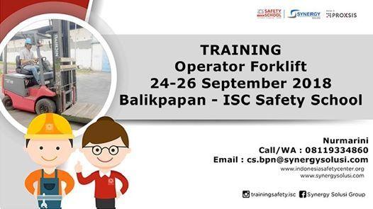 Training Operator Forklift Tanggal 24-26 September 2018