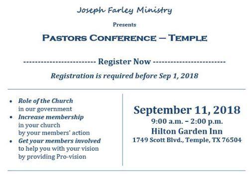 Pastors Conference   Temple