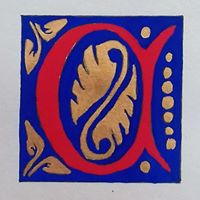 Calligraphy Illuminated Medieval Letters