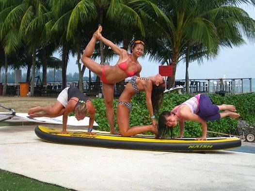 ASI SUP Yoga Teacher course. Singapore