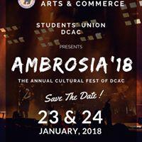 AMBROSIA - The Annual Festival Delhi College of Arts and Commerce