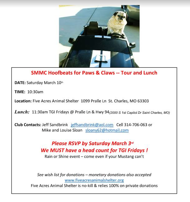 Smmc Hoofbeats For Paws Claws Tour Lunch At Show Me Mustang