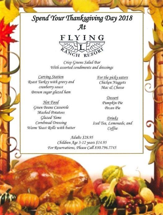 Flying L Ranch Resort Thanksgiving | Bandera