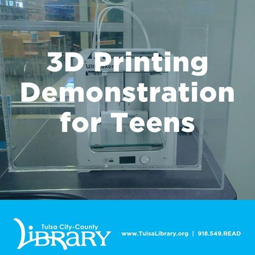 3D Printing Demonstration for Teens at Charles Page Library