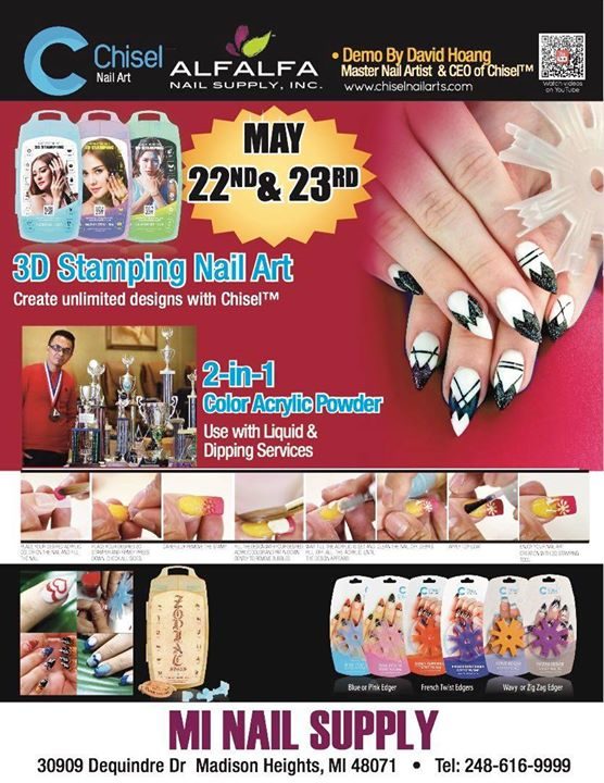 Chisel Nail Art Herbal Spa Demonstration At Mi Nail Supply 30909