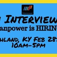 Manpower Hiring Event - Wed Feb. 28th 10am-5pm