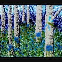 6 SPACES ONLY New Fused Glass Birch Trees Workshop at the Dovecote