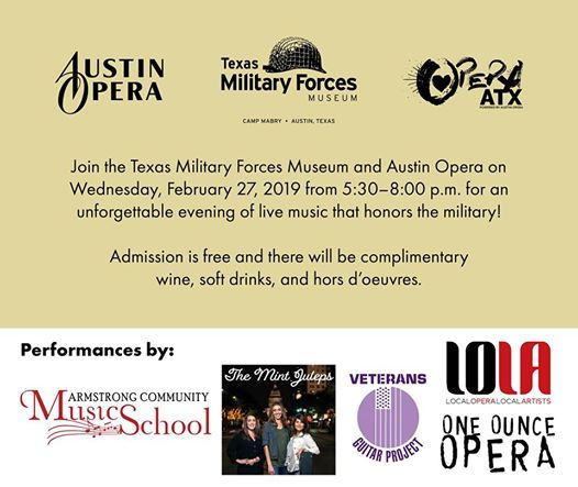 Texas Military Forces Museum Featuring Guest Performers