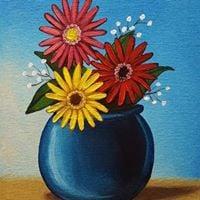 Instructors Choice Painting Floral - &quotGerberas&quot