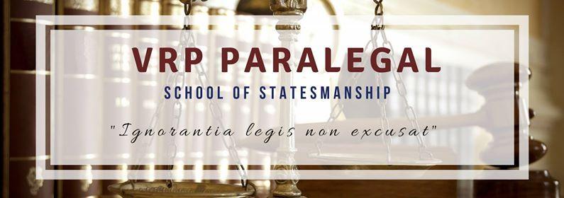 VRP Paralegal - School of Statesmanship (Module 2)