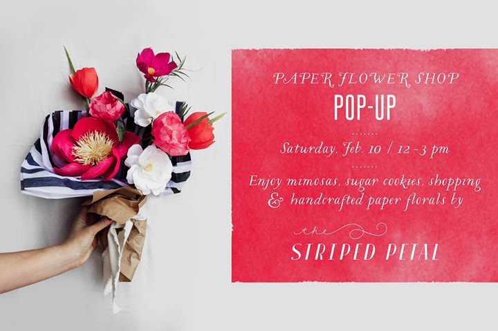 Paper flower shop pop up featuring the striped petal at weekends paper flower shop pop up featuring the striped petal mightylinksfo