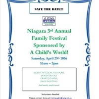 Niagara Family Festival-Sponsored by A Childs World