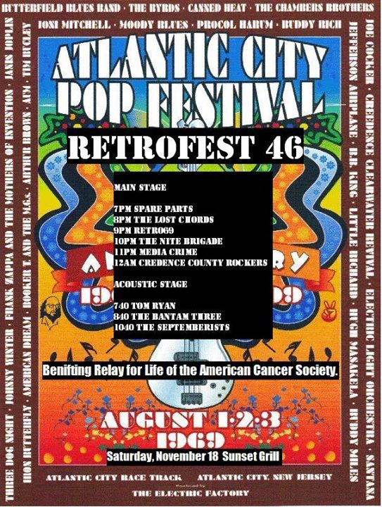 Retrofest 46 A Tribute to the Atlantic City Pop Festival of 1969 at ...