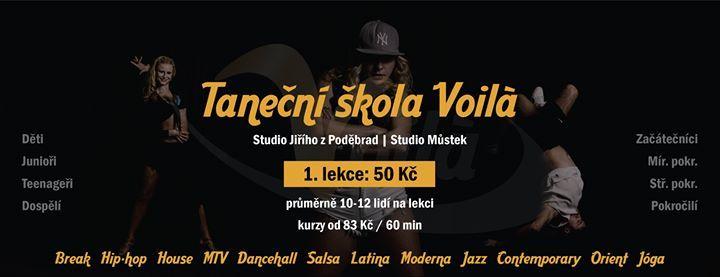 Tanen kola Voila Praha Tden lekc za 50 K jaro 2019