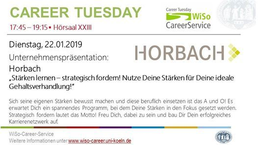 Career Tuesday mit Horbach