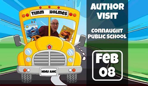 Author Visit Connaught Public School