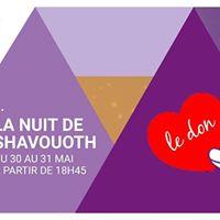 La nuit de Shavouoth au MJLF  Le don