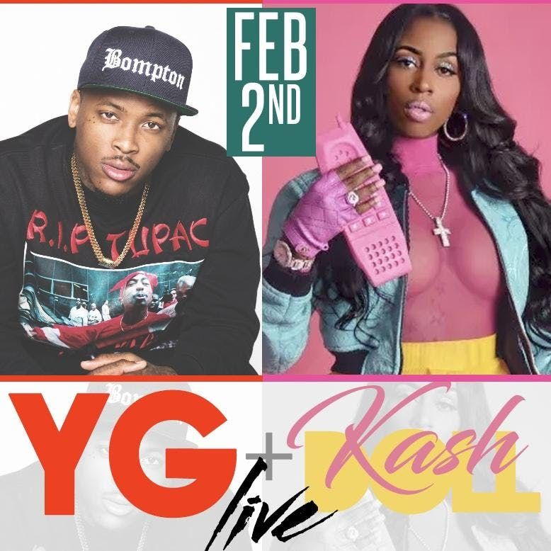RevelATL HOSTED BY YG & KASHDOLL SUPERBOWL53 TXT 678.977.7693 FOR TICKETS & VIP ONLY