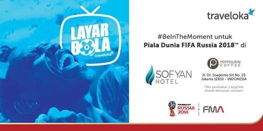 Layar Bola Traveloka di Sofyan Hotel