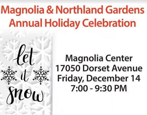 2018 Holiday Party for Magnolia and Northland Gardens