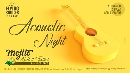 Acoustic Night at The Flying Saucer Sky Bar