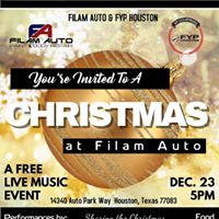 Filam Auto &amp FYP Houston A Christmas Live Music Event