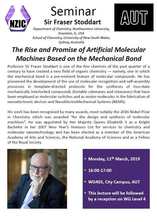 NZIC Seminar - Professor Sir Fraser Stoddart