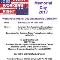 Workers Memorial Day Ceremony - Binghamton