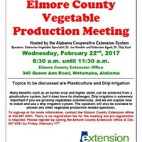Elmore County Vegetable Production Meeting