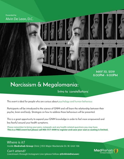 Narcissism & Megalomania at MedRehab Group, Richmond Hill