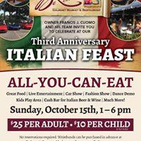 DeRomos 3rd Anniversary Italian Feast
