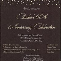 Chaikas 60th Anniversary Celebration